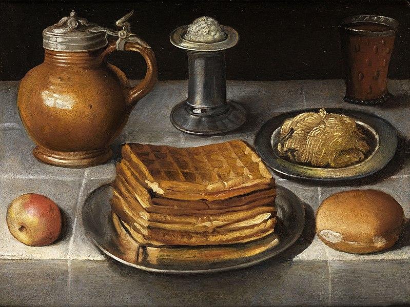 File:Circle of Georg Flegel Still life with waffles.jpg