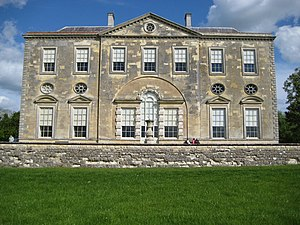 Palladian architecture - Claydon House in Buckinghamshire (begun 1757); here the Venetian window in the central bay is surrounded by a unifying blind arch. This house was intended to be one of two flanking wings to a vast Palladian house; the scheme was never completed.