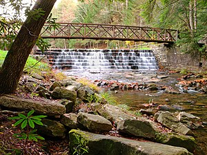 National Register of Historic Places listings in Jefferson County, Pennsylvania - Image: Clear Creek State Park Steps