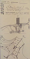 Clement Ader Avion French patent 205155 of 19 April 1890.jpg