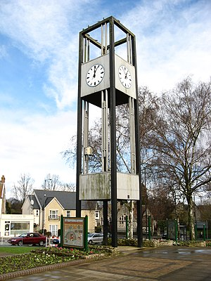 Keynsham - 1960s Keynsham Clock Tower, removed in 2010s regeneration