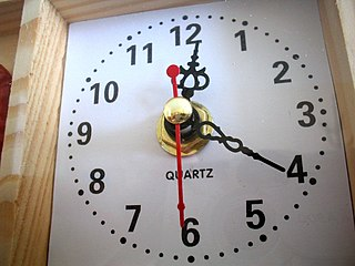 Quartz clock clock that utilizes a quartz crystal to keep time