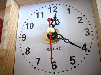 Quartz clock - A quartz clock