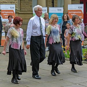 Clog dancing - Four clog dancers, at Saltaire