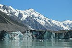 Close-up of Tasman Glacier terminus in front of Mt Haidinger, viewed from Tasman Glacier Lake.jpg