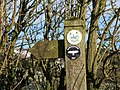 Close up of waymarker for Jack Mytton Way - geograph.org.uk - 656347.jpg