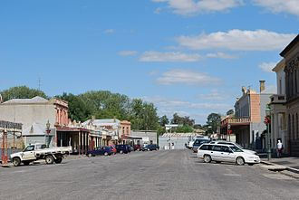 Clunes, Victoria - Main street of Clunes