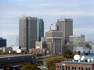 Downtown Winnipeg Neighbourhood in Winnipeg, Manitoba, Canada