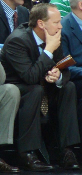 Mike Budenholzer - Budenholzer on the bench during a game in 2011