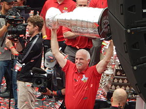 Joel Quenneville - Quenneville with the Stanley Cup in 2015.