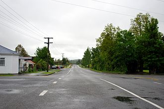 Coalgate, New Zealand - Main street of Coalgate