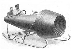 Coandă-1910 - The 1910 Coandă engine design was also used on a sledge designed for Grand Duke Cyril of Russia.