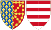 Coat of Arms of Clementia of Hungary as Queen Consort of Navarre.svg