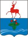 Coat of Arms of Kstovo rayon (Nizhny Novgorod oblast) (2001).png