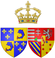 Coat of arms of Marie Antoinette of Austria as Dauphine of France.png