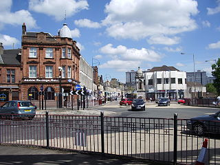 Coatbridge town in North Lanarkshire, Scotland
