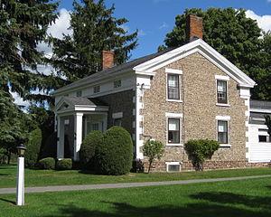 William Covert Cobblestone Farmhouse - Image: Cobblestone House Greece NY