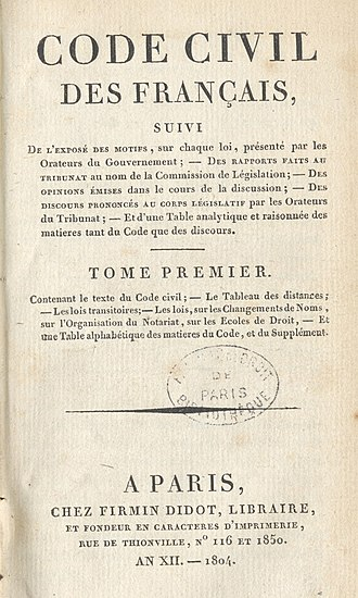 Didone (typography) - Didot's type in the Code civil des Français, printed by the company of Firmin Didot in 1804.