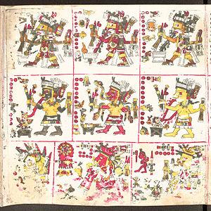 Aztec mythology - Embodied spirits; Tonalleque (1), Cihuateteo (2).