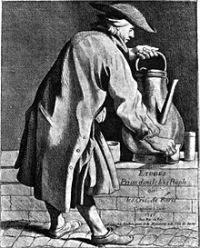 Un marchand de café ambulant au XVIIIesiècle.