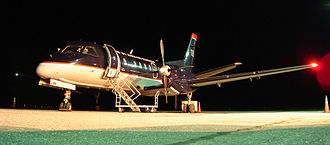 US Airways Express - Saab 340 in previous US Airways Express livery, 2005.