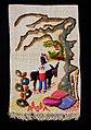Collectie Nationaal Museum van Wereldculturen TM-3325-38 Wandversiering van stro met een afbeelding van een meisje en ezel Aruba.jpg
