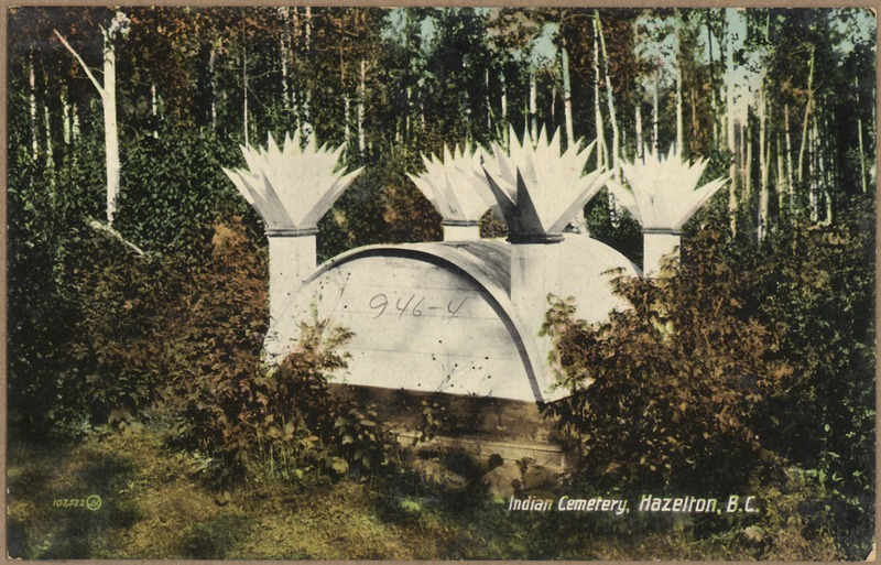 File:Color post card. Indian cemetery, Hazelton, British Columbia. - NARA - 297781.tiff