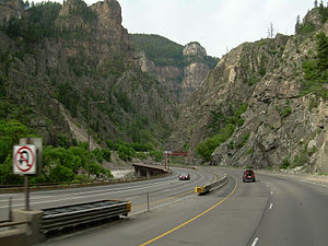 Interstate 70 through Colorado
