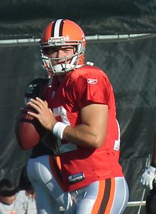 alt=Description de l'image Colt McCoy Browns training.jpg.