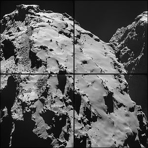 Comet 67P on 28 October 2014 NavCam montage.jpg