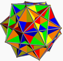 Compound of five cubes