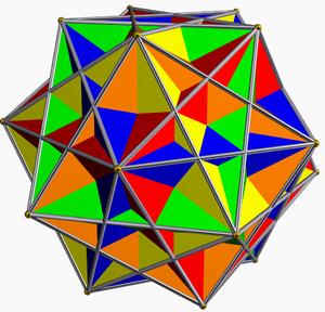 Compound of five cubes - Image: Compound of five cubes