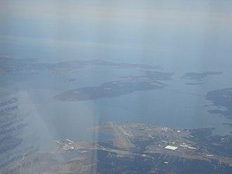 Conanicut Island - Conanicut Island from above