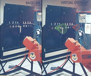 Virtual fixture - Virtual Fixtures were used by Rosenberg (1992) to enhance operator performance in the telerobotic control of Fitt's Law peg-board task.