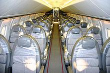 La cabina di un Concorde.