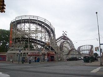 History of the roller coaster - Coney Island Cyclone in Brooklyn, New York was built in 1927 and refurbished in 1975.