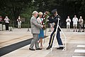 Congresswoman Janice Hahn lays a wreath at the Tomb of the Unknown Soldier in Arlington National Cemetery (18838770435).jpg
