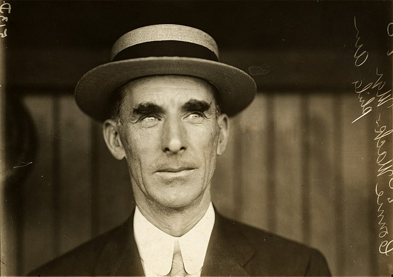 File:Connie Mack, Philadelphia Athletics manager, by Paul Thompson, 1911.jpg