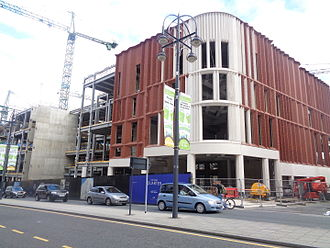 John Lewis & Partners - The first branch of John Lewis in Leeds (opened in October 2016) under construction in 2015
