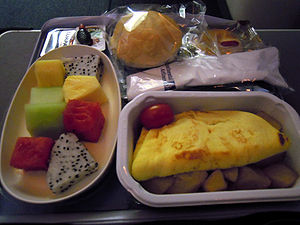 Continental Airlines Breakfast from Hong Kong ...