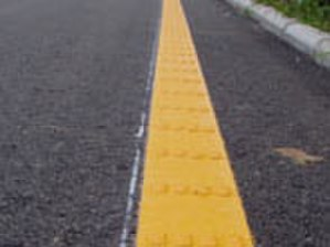 Rumble strip - Convex road lines, raised thermoplastic pavement lines