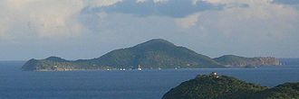 Cooper Island (British Virgin Islands) - Cooper Island seen from Tortola