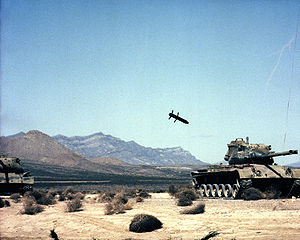 M712 Copperhead - M712 Copperhead approaches a target tank