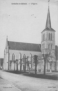 Corbeilles-en-gatinais l'eglise 1939.jpg