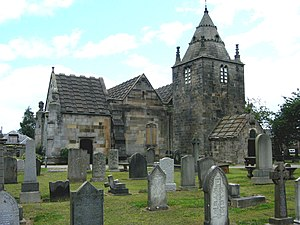 Pramface - The Corstorphine Old Parish Church in Edinburgh which featured extensively in the episode The Edge of Hell.