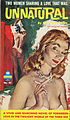 Cover of Unnatural by Sloan Britton - Illustration by Paul Rader - Midwood Book 1960.jpg