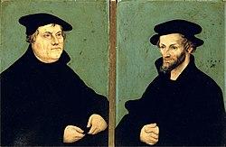 Lucas Cranach der Ältere: Portraits of Martin Luther and Philipp Melanchthon