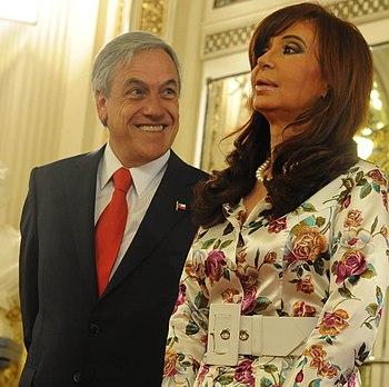 Cristina Fernandez en Casa Rosada con Sebastian Pi%C3%B1era