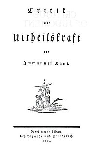 Critique of Judgment, German title page.jpg