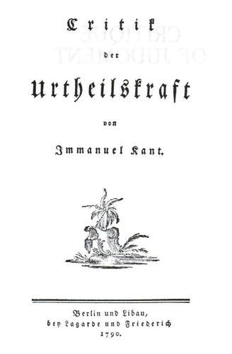 Critique of Judgment, German title page
